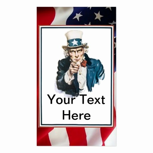 I Want You Uncle Sam Customize Your Text Double Sided
