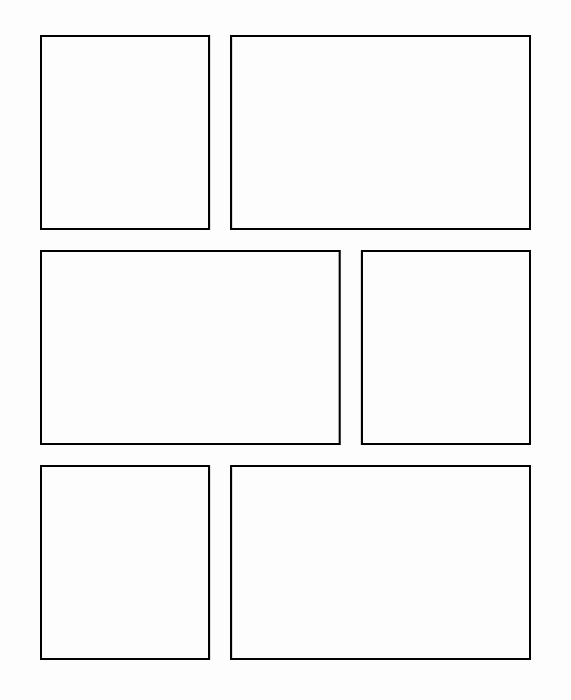 Ic Book Frame Template Blank Ic Strip Templates