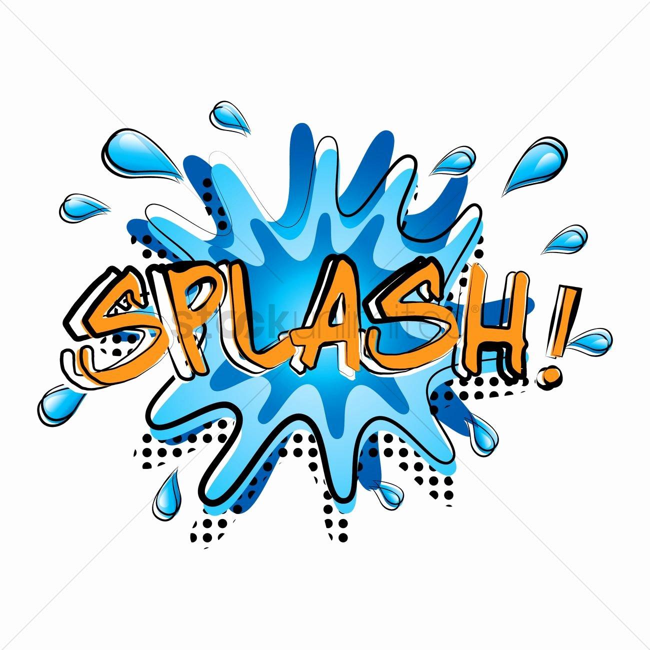 Ic Word Splash Vector Image