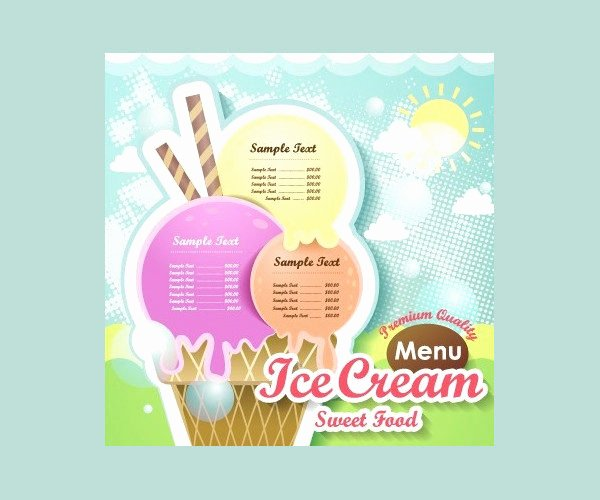Ice Cream Menu Template 19 Free & Premium Download