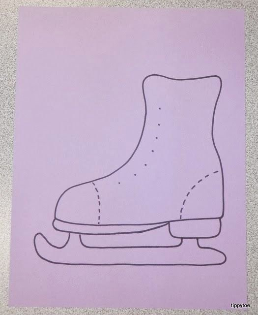 Ice Skate Craft Template Decorated their Skate with