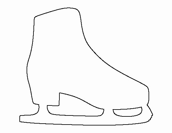 Ice Skate Pattern Use the Printable Outline for Crafts