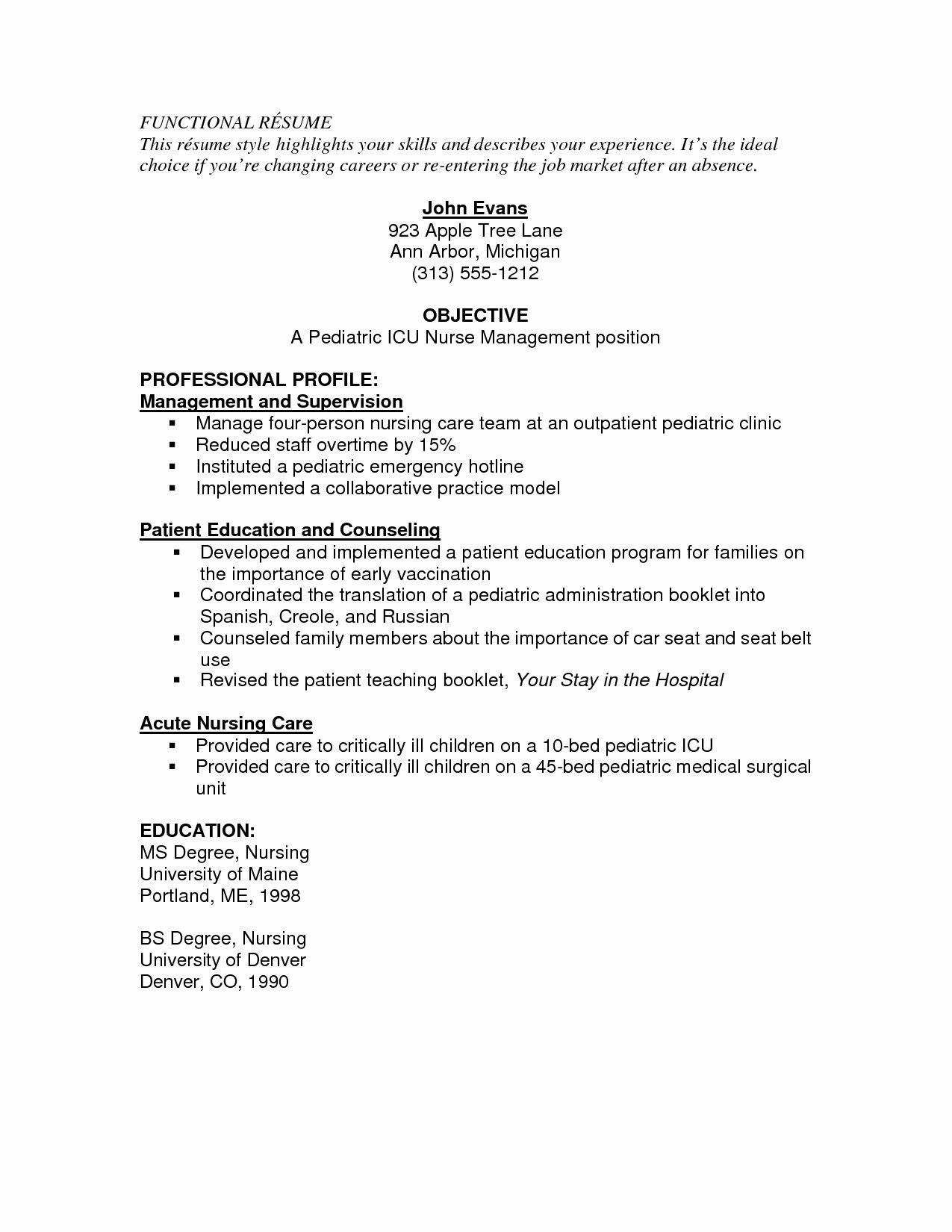 Icu Nursing Resume Skills Sidemcicek
