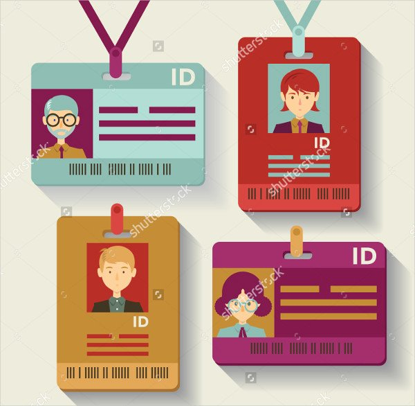 Id Badge Templates Free Sample Example format Download