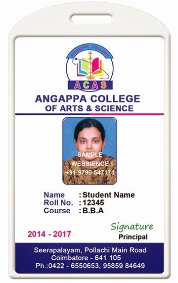 Id Card Coimbatore Ph College Id Card