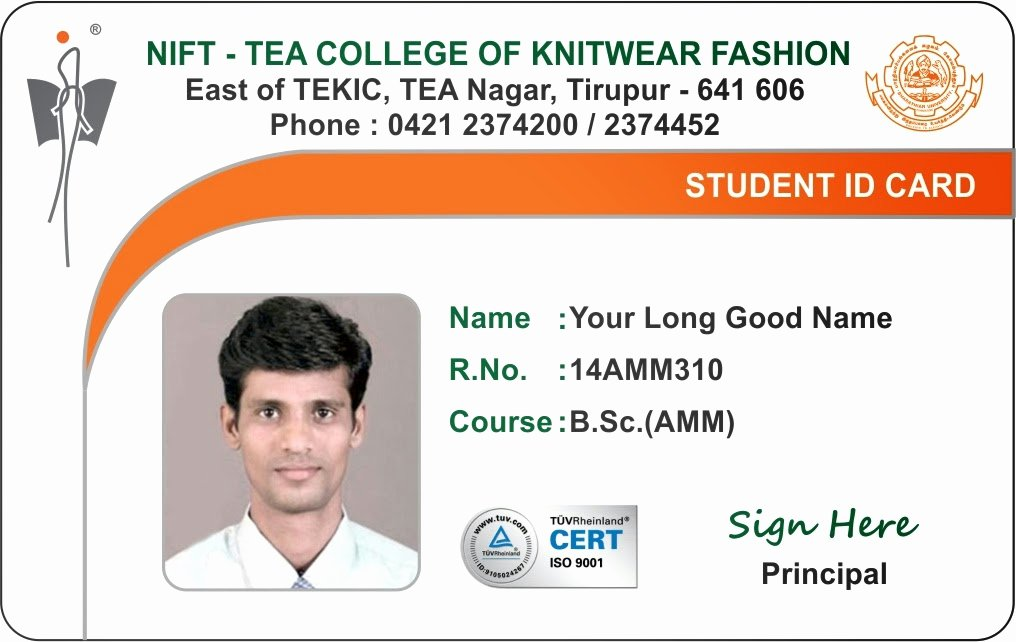 Id Card Coimbatore Ph College Student