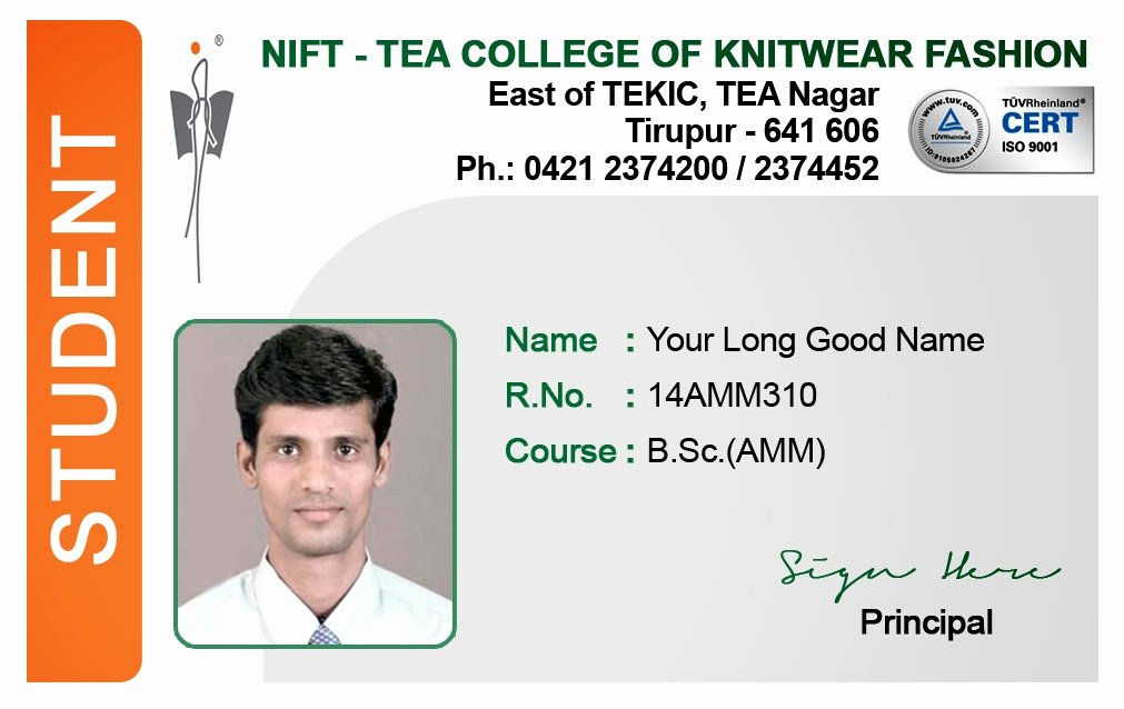Id Card Coimbatore Ph Student Id Card