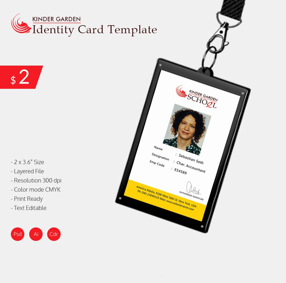 Id Card Template Free software Download Templates Data