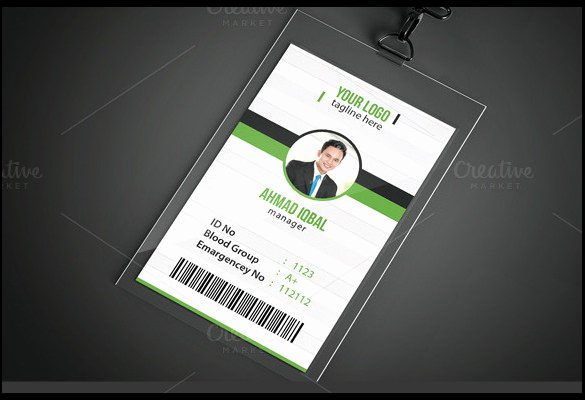 Id Card Template Psd File Free Id Card Template