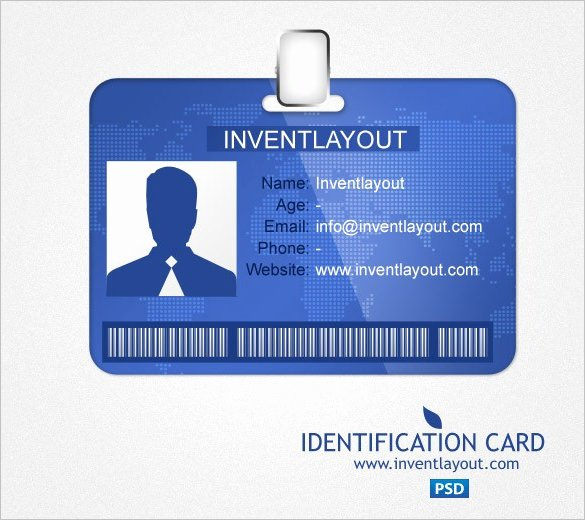 Id Card Template Psd Free Identification Card Psd