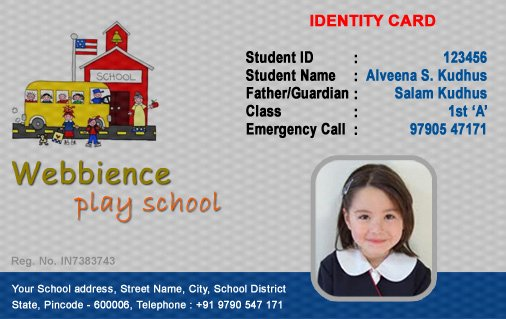 Id Cards Student Id Card Template Series