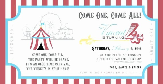 Idea Free Printable Carnival Invitation Templates and