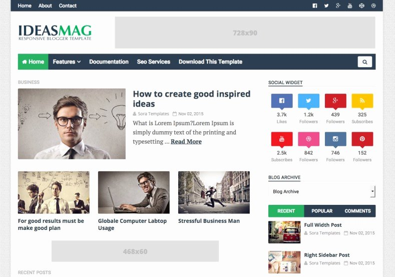 Ideas Mag Blogger Template • Templates 2018