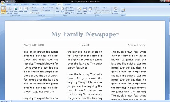 ideas of how to make a newspaper article template on microsoft word 2010 with summary