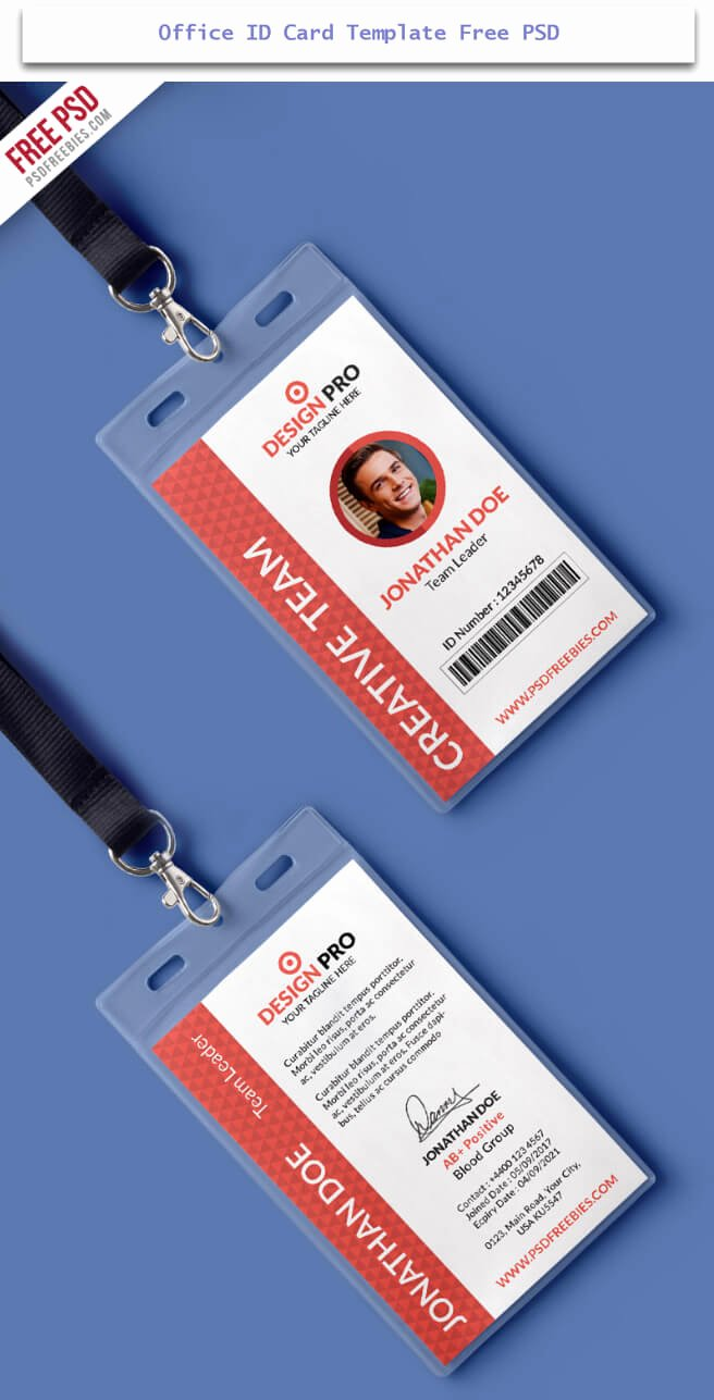 Identification Card Template Free Id Card Templates Free