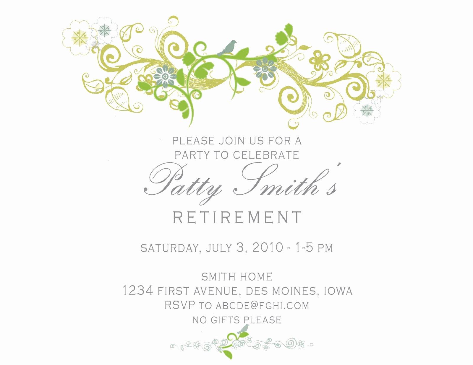 Idesign A Retirement Party Invitation