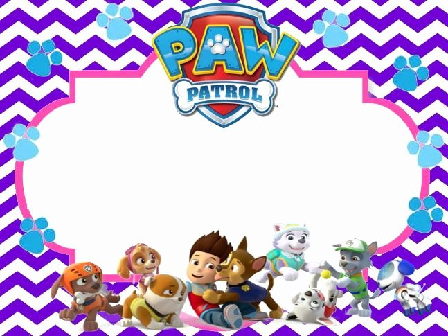 Image Result for Paw Patrol Birthday Invitation Free