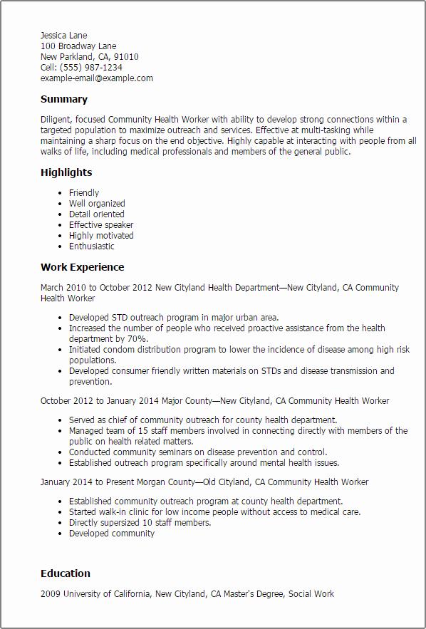 Image Result for Public Health Resume Sample
