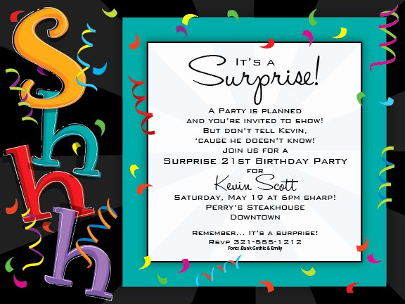 Impactful Adult Birthday Party Wording Concerning Unusual