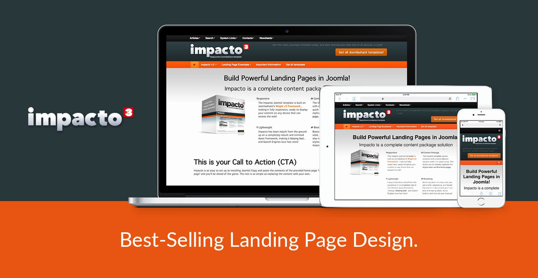 "Impacto is A Best Selling Responsive ""landing Page"