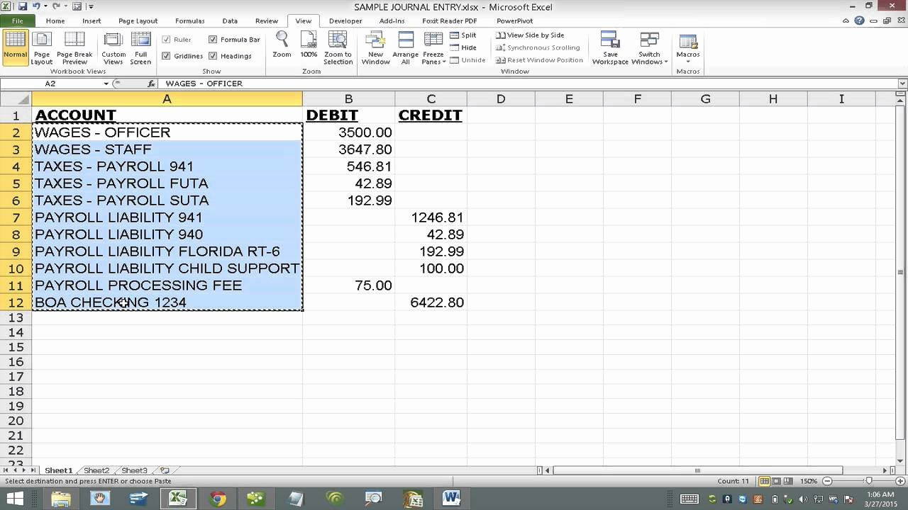 Import Journal Entry Into Quickbooks From Excel Using