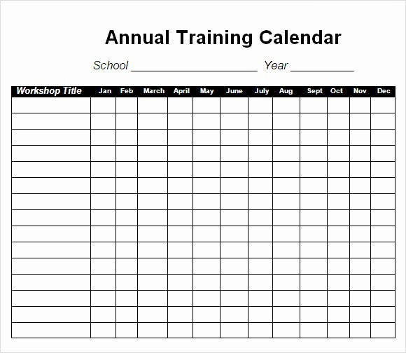 Impressive Annual Training Workout Program Calendar