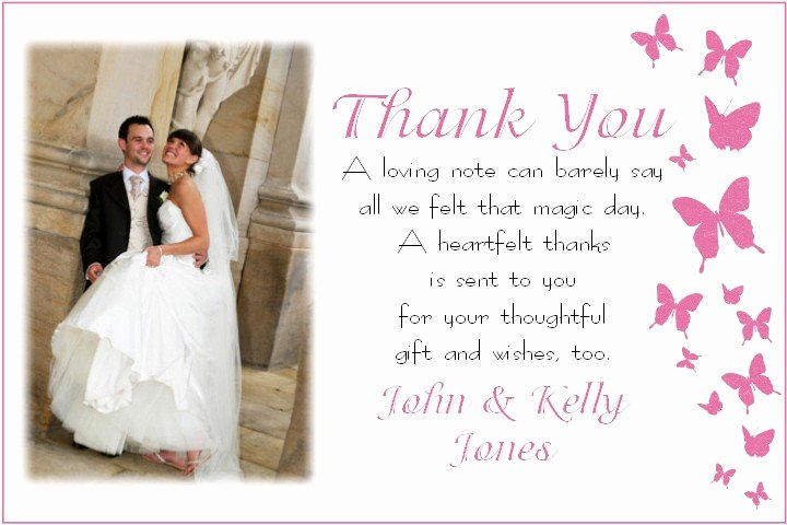 Impressive Result Thank You Card Wedding for Cool