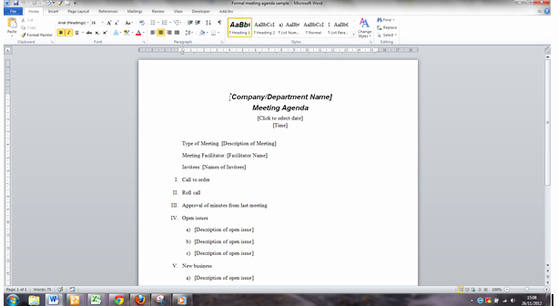 Improve the Way You Create and Use Meeting Papers In Word