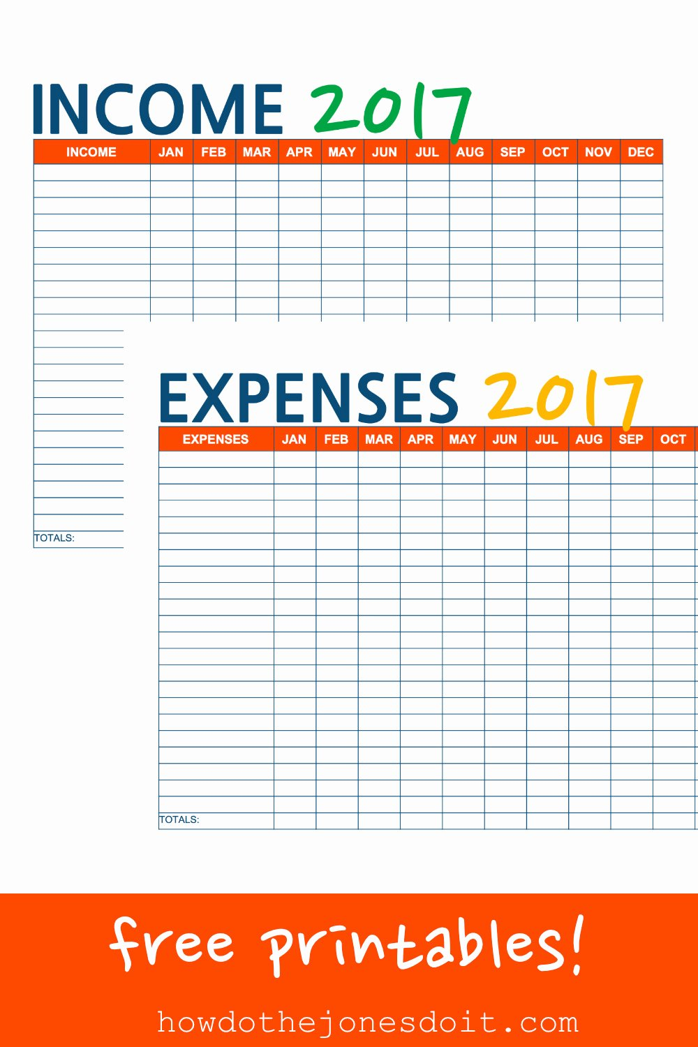 In E and Expense Printables