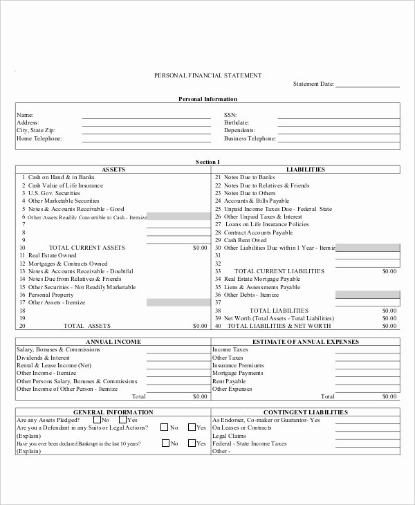 In E Statement Template 9 Free Excel Pdf Documents