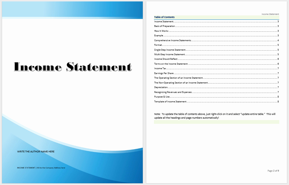 In E Statement Template Microsoft Word Templates