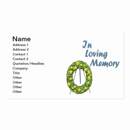 In Loving Memory Double Sided Standard Business Cards