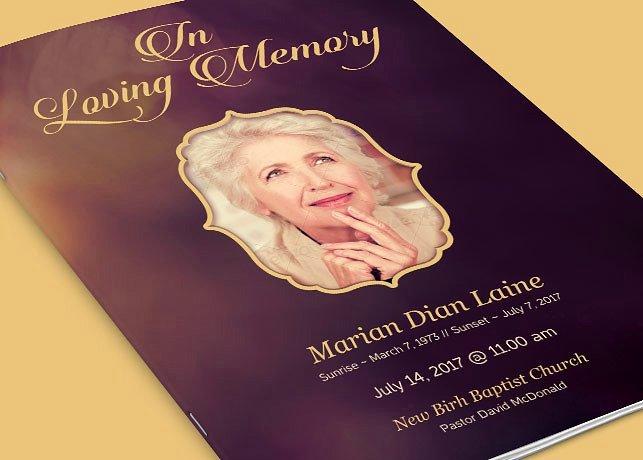 In Loving Memory Funeral Program Brochure Templates