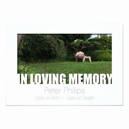 In Loving Memory Template 10 Celebration Of Life Card