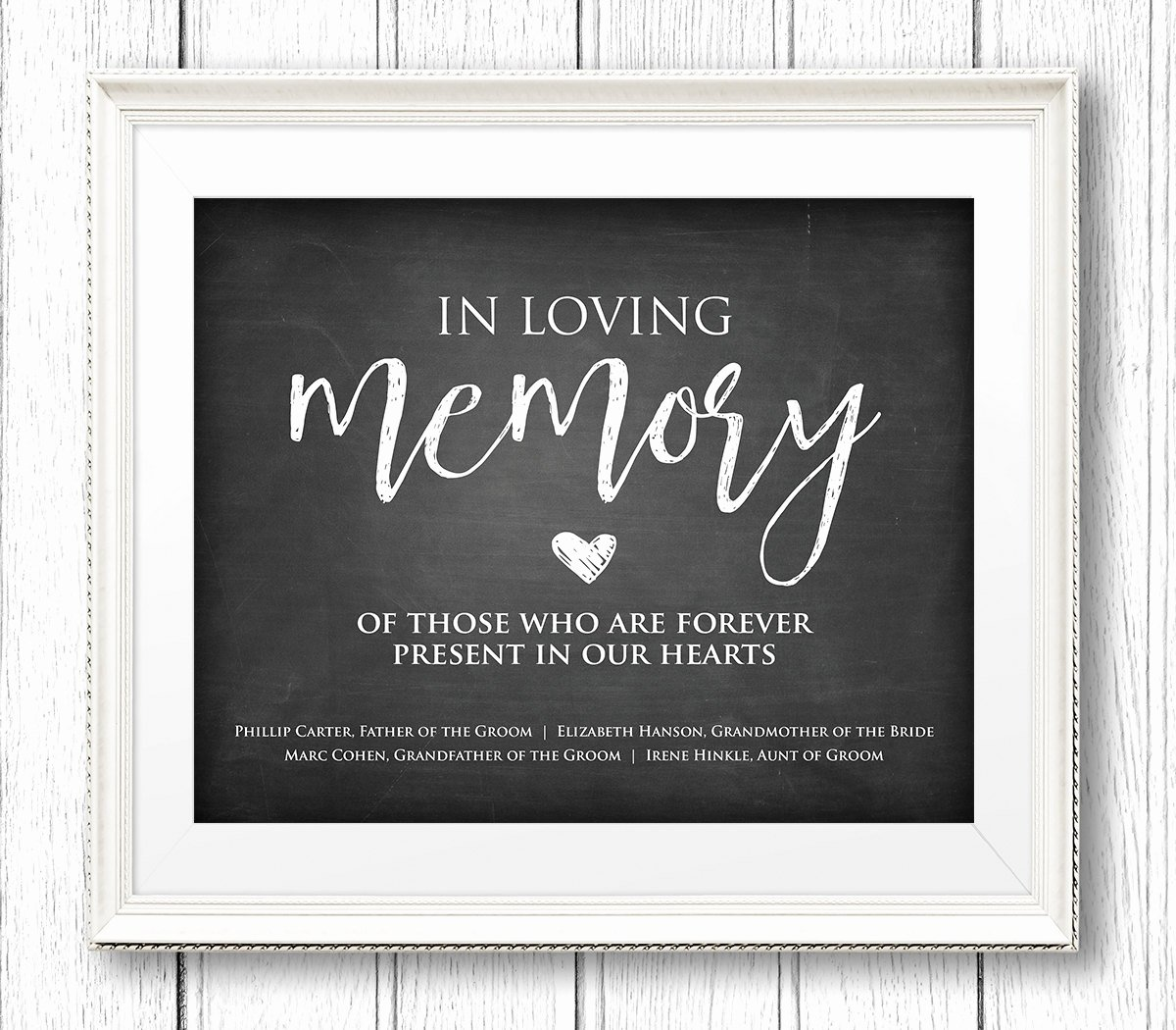 In Loving Memory Wedding Sign Instant Download Personalize