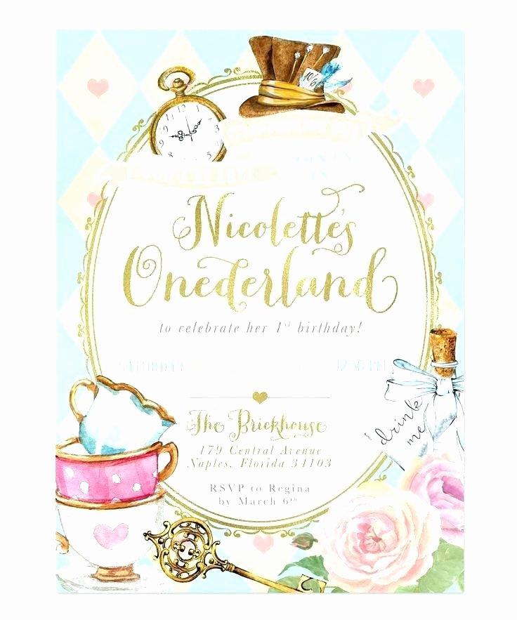 In Wonderland Invitation Template Good Birthday