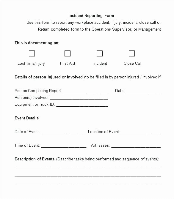 Incident Investigation Report Template form Post Executive