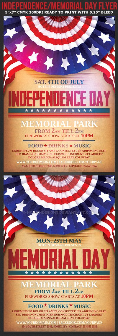 Independence Memorial Day Flyer Template by Hotpindesigns