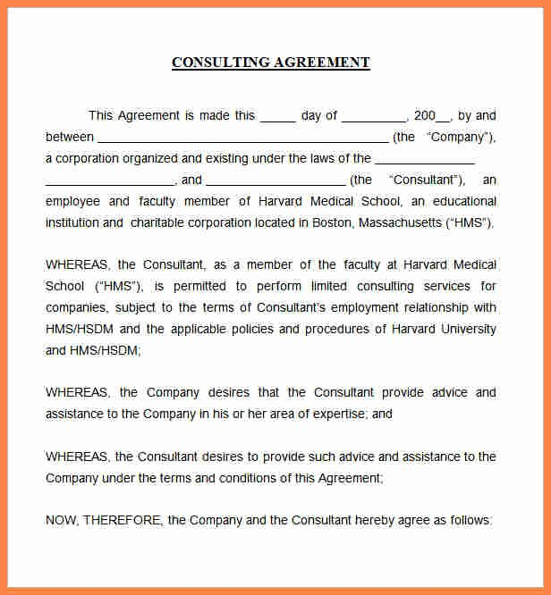 Independent Consulting Agreement Design Templates