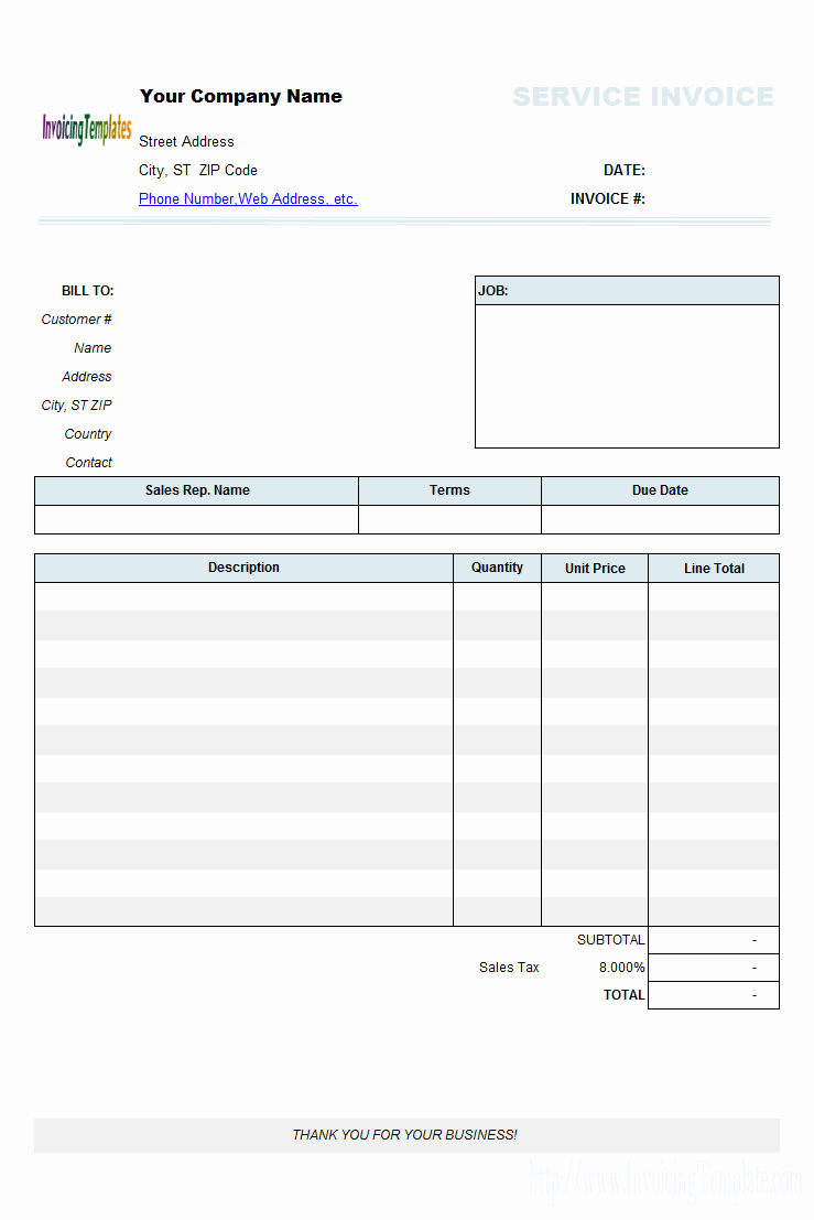 Independent Contractor Invoice Template Free