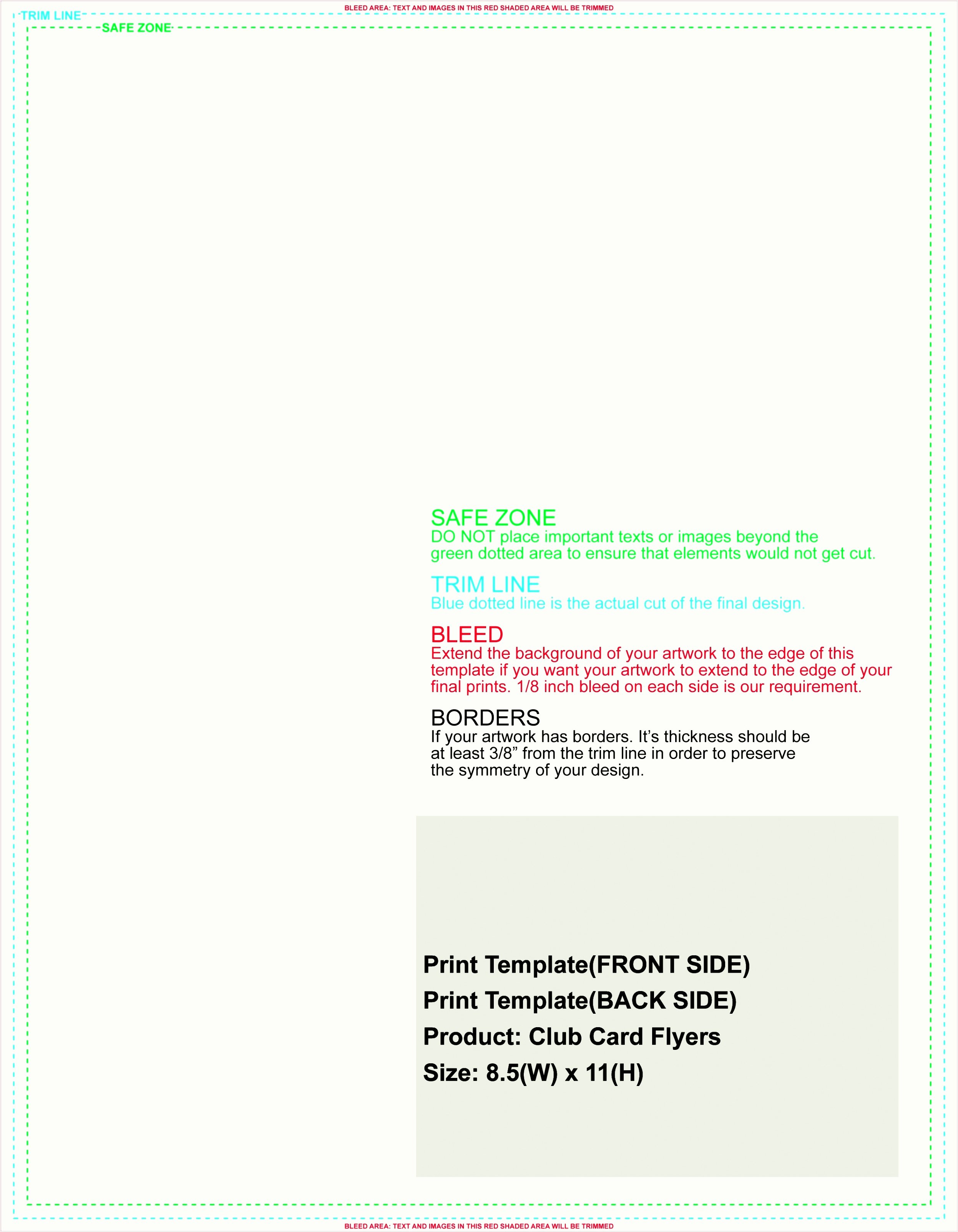 Indesign Business Card Template 8 Up Bleed