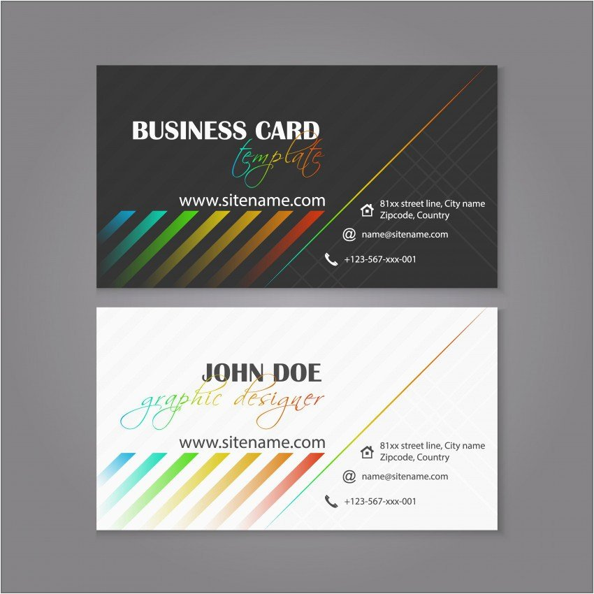 Indesign Business Card Template Business Card
