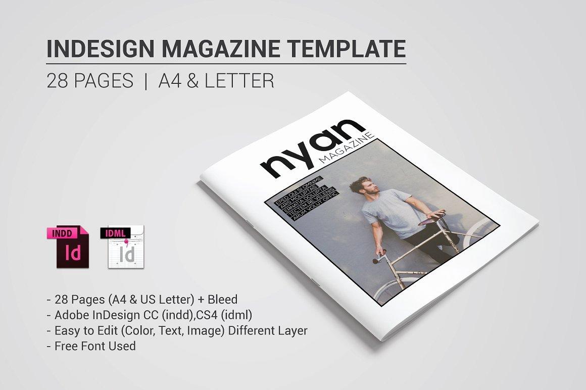 Indesign Magazine Template Magazine Templates Creative