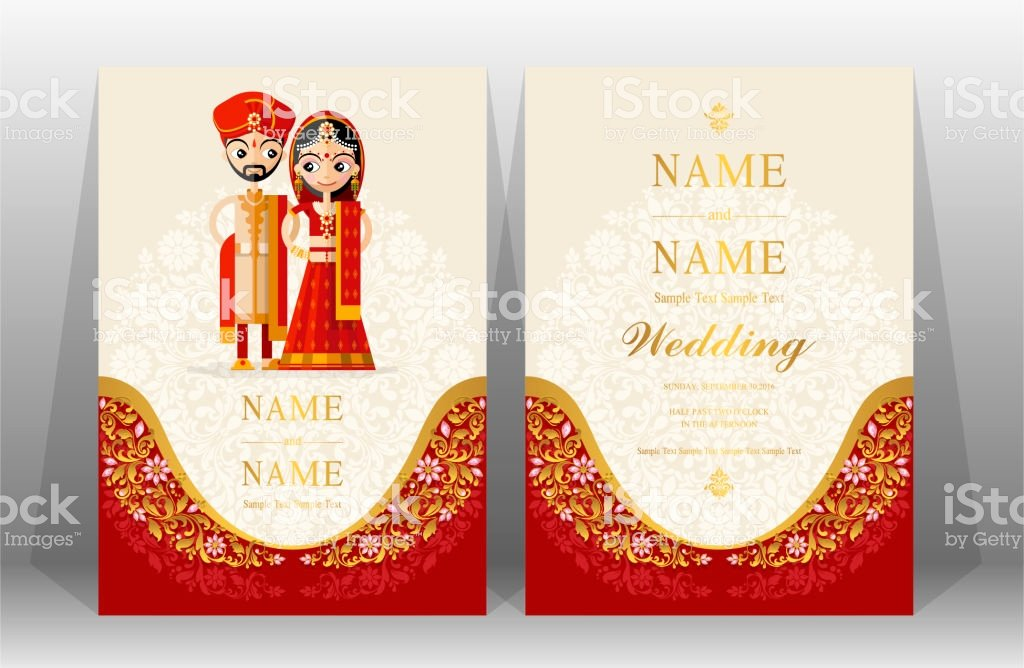Indian Wedding Invitation Card Templates with Indian Man