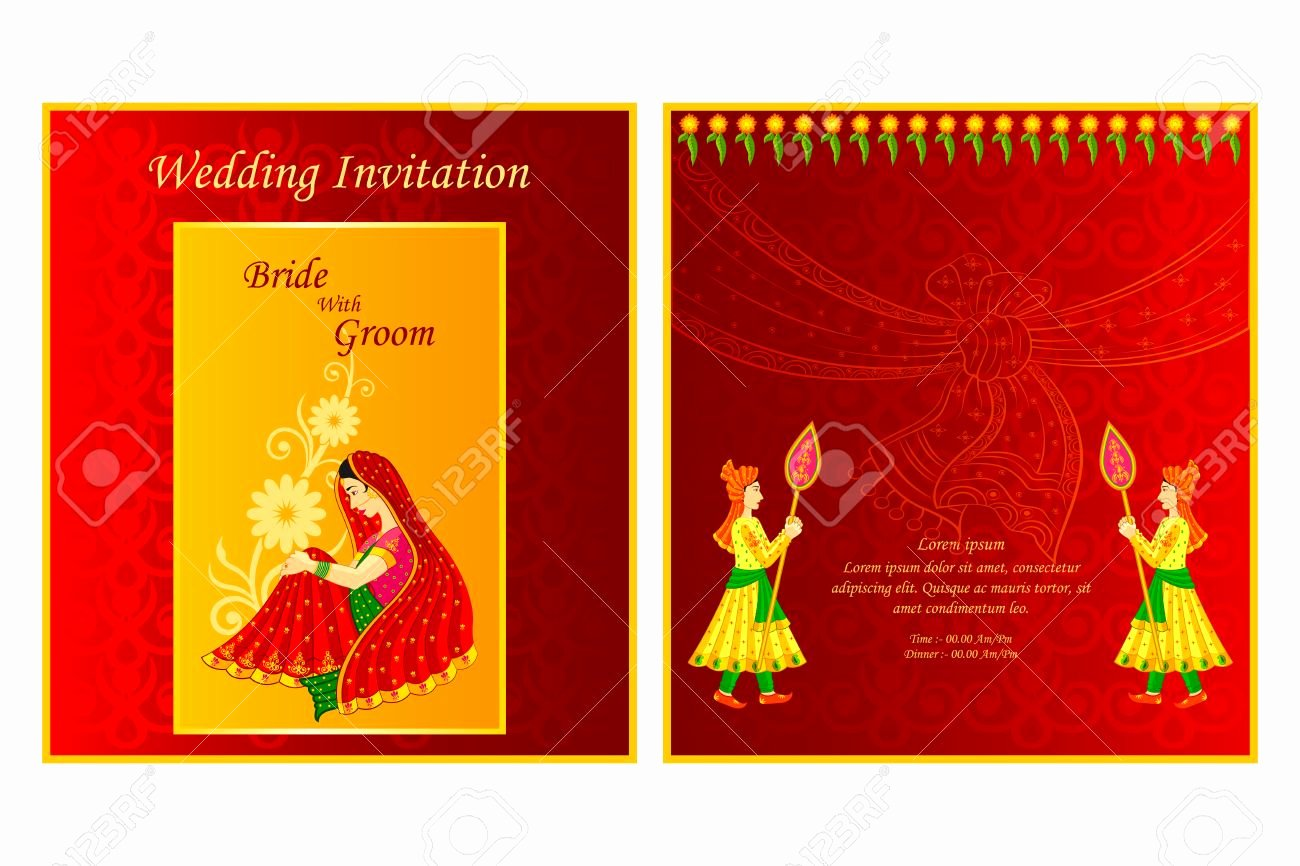 Indian Wedding Invitation Cards Templates
