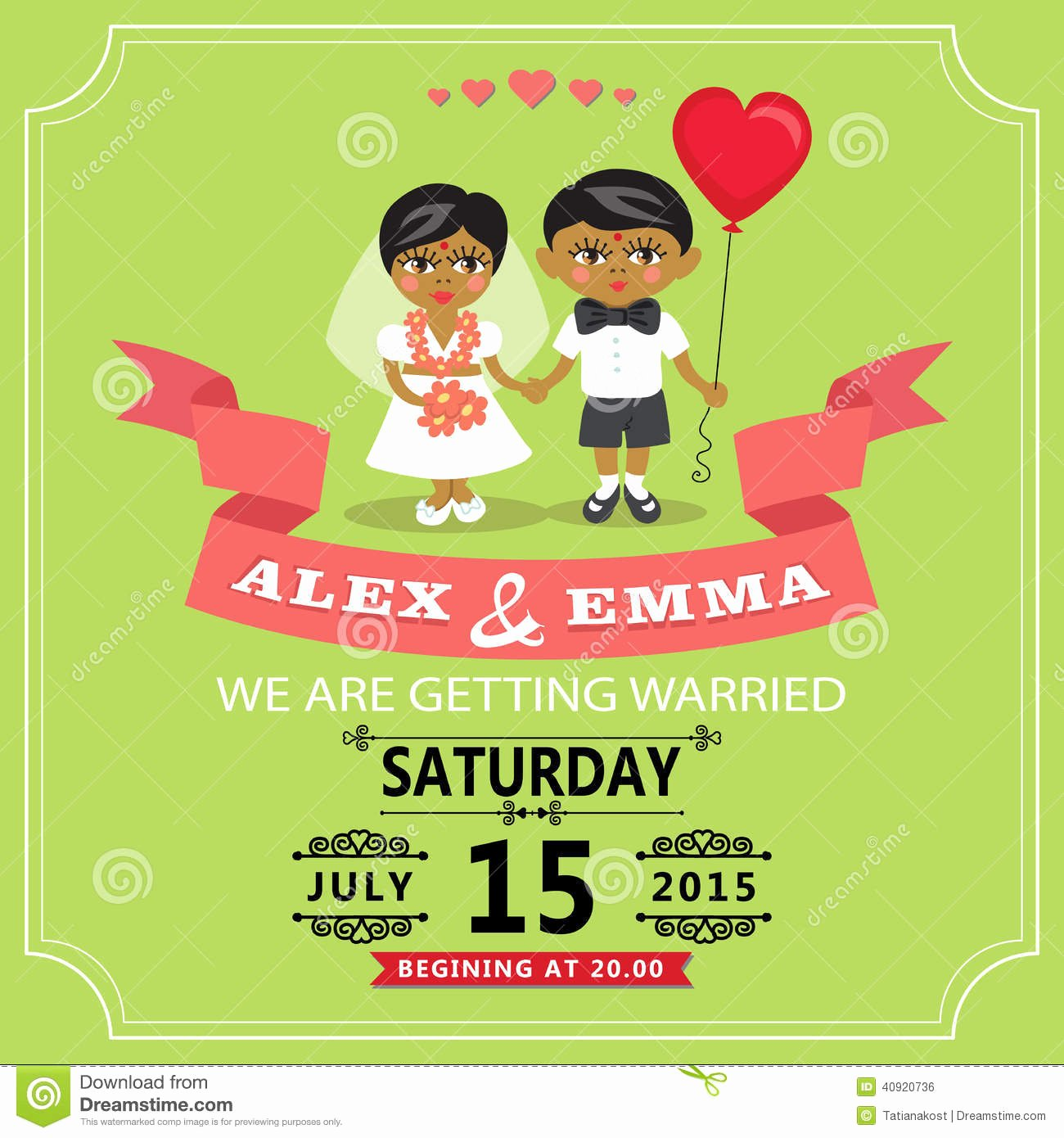 Indian Wedding Invitations Templates