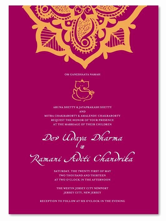 Indian Wedding Reception Invitation Templates Nice Indian