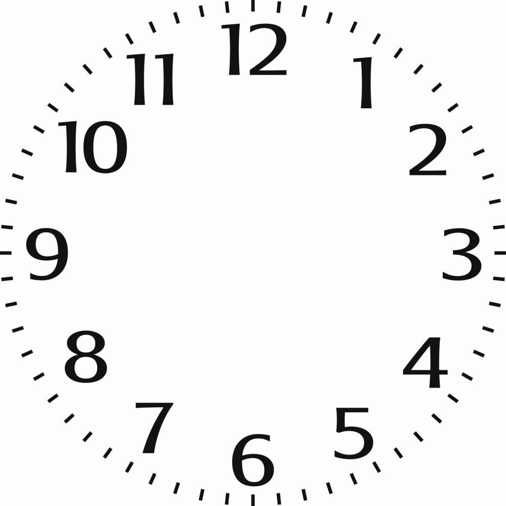 """Indigoblu Stencil Small Clock Face 6"""" X 6"""" Indigoblu"""