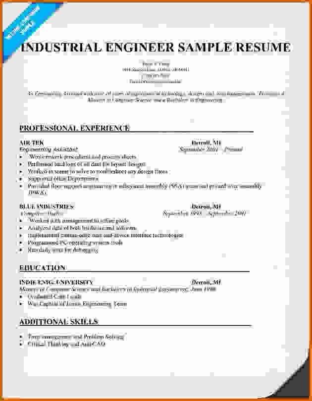 Industrial Engineering Cv