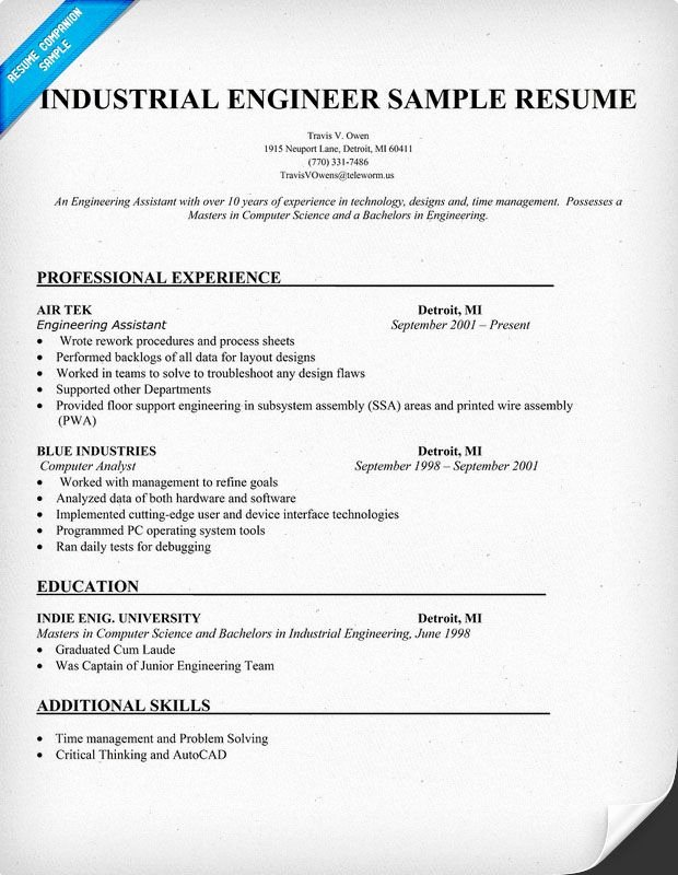 Industrial Engineering Entry Level Cover Letter Cover
